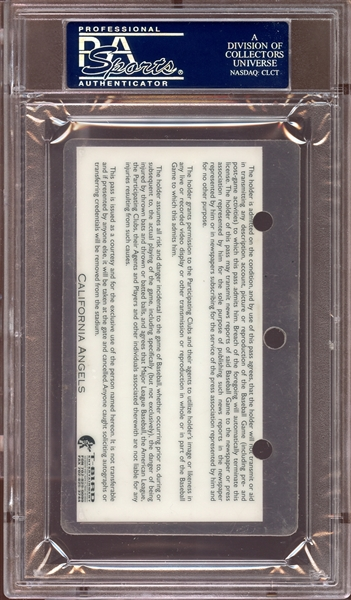 1995 California Angels Press Pass PSA AUTHENTIC