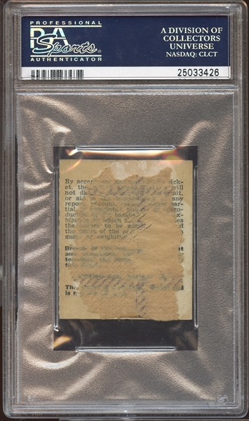 1963 Los Angeles Dodgers Ticket Stub Sandy Koufax 2nd No-Hitter PSA AUTHENTIC