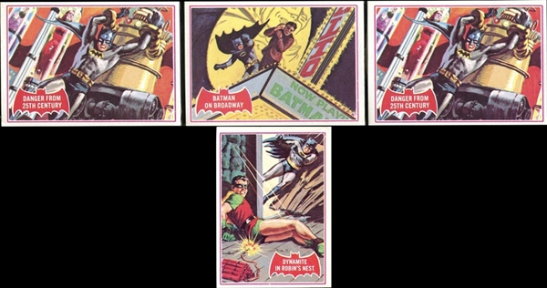 1966 Topps Batman A Series Red Bat Cello Pack Group of Four Packs