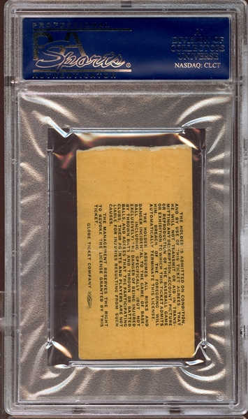 1968 Boston Red Sox Ticket Stub Mickey Mantle Last Game PSA AUTHENTIC