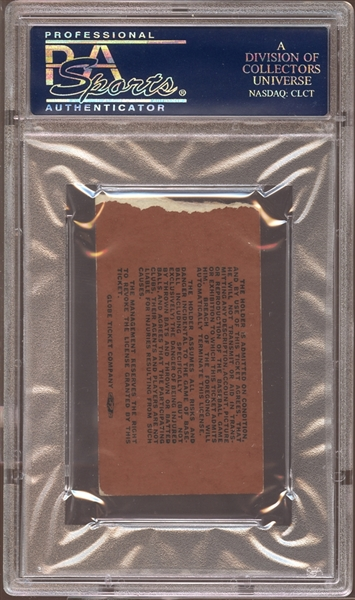 1967 Boston Red Sox Ticket Stub Yastrzemski Clinches Triple Crown PSA AUTHENTIC