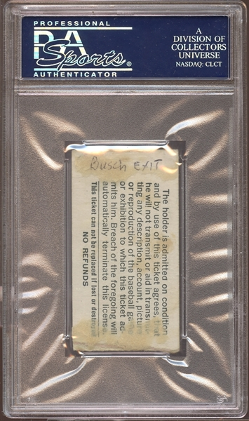 1966 St. Louis Cardinals Ticket Stub Willie Mays Home Run #513 PSA AUTHENTIC