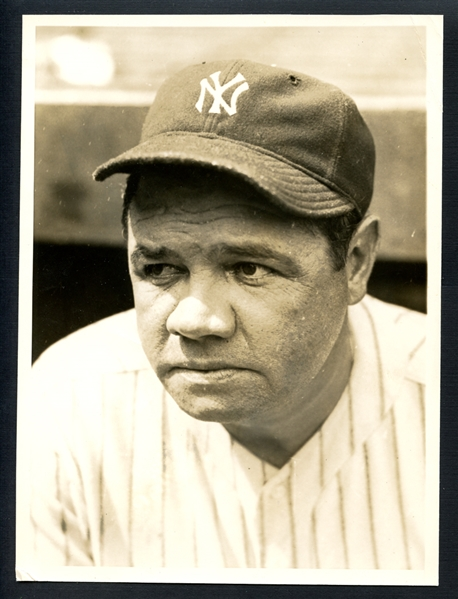1932 Babe Ruth Type I Original Photograph From the Estate of George Highpockets Kelly PSA/DNA