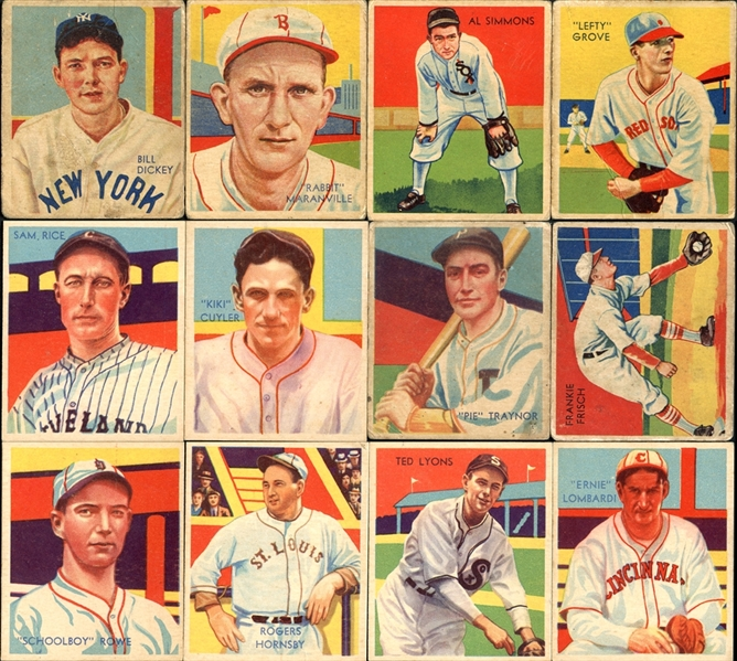 1934-36 Diamond Stars Group of 34 Cards With Hall of Famers
