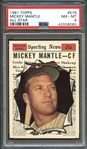 1961 Topps #578 Mickey Mantle All Star PSA 8 NM-MT