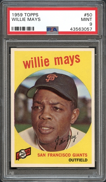 1959 Topps #50 Willie Mays PSA 9 MINT