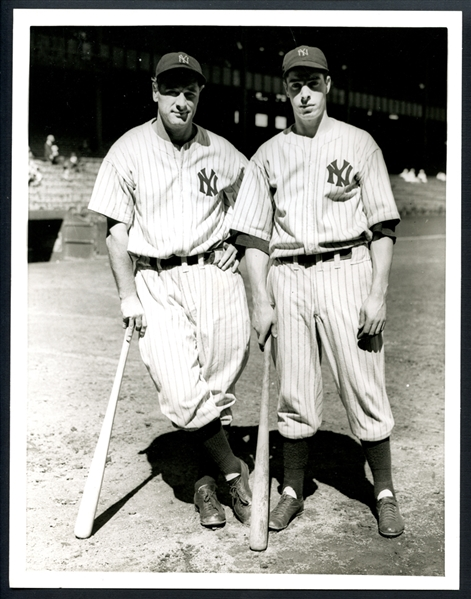 1936 Lou Gehrig and Joe DiMaggio Type II Original Photograph PSA/DNA