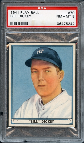 1941 Play Ball #70 Bill Dickey PSA 8 NM-MT