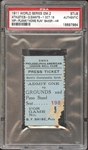 1911 World Series Game 2 Ticket Stub PSA AUTHENTIC