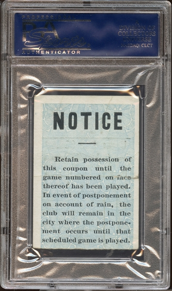 1912 World Series Game 1 Ticket Stub PSA AUTHENTIC