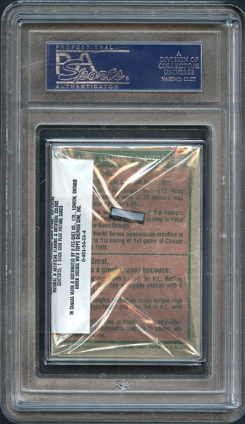 1975 Topps Baseball Cello Pack PSA 10 GEM MT
