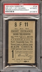 1925 World Series Game 1 Ticket Stub PSA AUTHENTIC