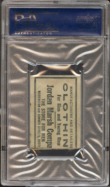 1924 Boston Red Sox Ticket Stub Earle Combs MLB Debut PSA AUTHENTIC