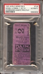 1920 World Series Game 5 Ticket Stub Wambsganss Unasissted Triple Play PSA AUTHENTIC