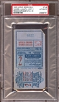1923 World Series Game 2 Ticket Stub Babe Ruth 2 Home Runs PSA AUTHENTIC