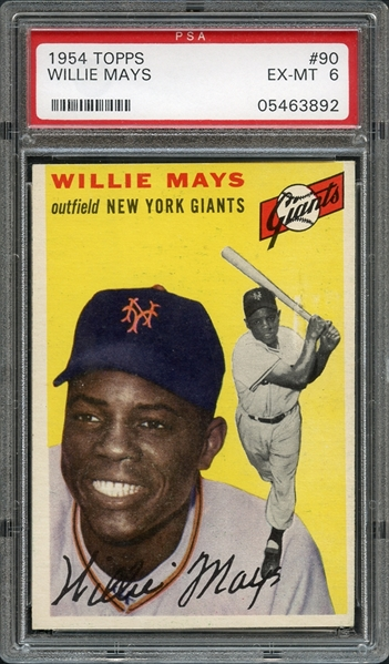 1954 Topps #90 Willie Mays PSA 6 EX-MT