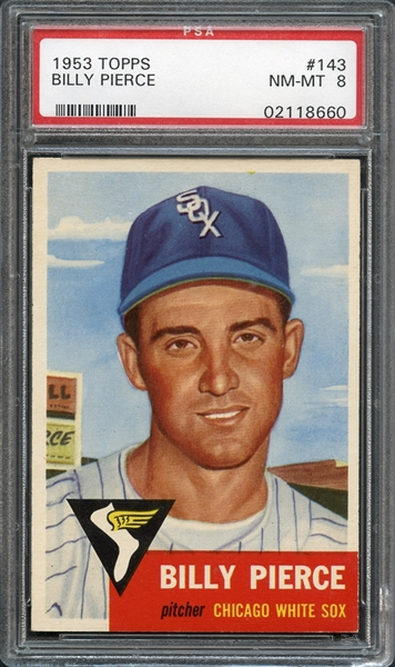 1953 Topps #143 Billy Pierce PSA 8 NM-MT