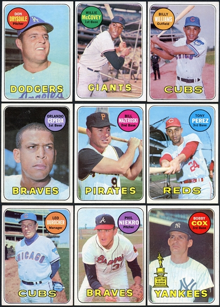 1969 Topps Baseball Partial Set (446/664) With Over 200 Extras