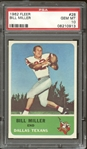 1962 Fleer #28 Bill Miller PSA 10 GEM MINT