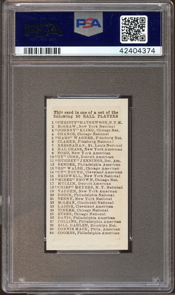 1910 E98 Set of 30 Miner Brown Red PSA 8 NM/MT