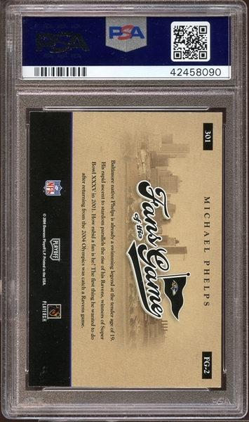 2004 Leaf R&S Fans of the Game #FG-2 Michael Phelps PSA AUTHENTIC AUTOGRAPH PSA/DNA 10