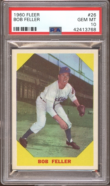 1960 Fleer #26 Bob Feller PSA 10 GEM MINT