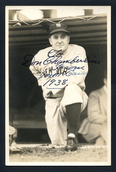 Joe McCarthy Signed George Burke Photo JSA