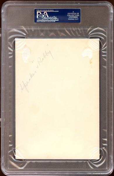 Tris Speaker Signed Photograph PSA/DNA AUTHENTIC