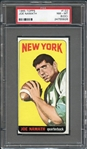 1965 Topps #122 Joe Namath PSA 8 (OC) NM-MT