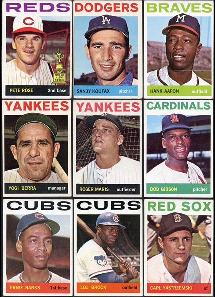 1964 Topps Baseball Partial Set (479/587) With Extras
