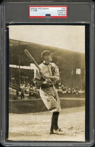c. 1914-1917 Ty Cobb Original Type I Photograph PSA Certified Authentic