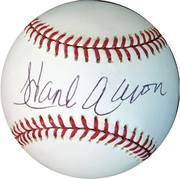 Hank Aaron Single-Signed OML (Selig) Ball PSA/DNA GEM MINT 10