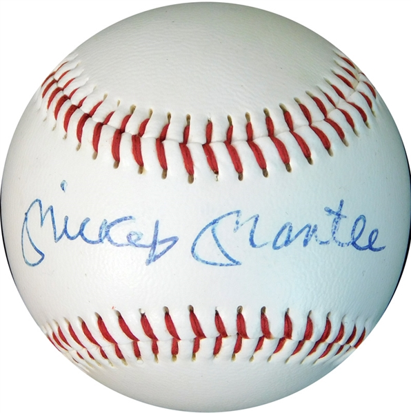Mickey Mantle Single-Signed Baseball PSA/DNA 9 MINT