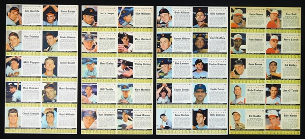 1961 Post Cereal Company Issue Complete Set of (16) Uncut Sheets