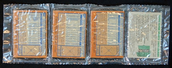 1978 Topps Baseball Unopened Rack Pack with Jackson and Schmidt on Top