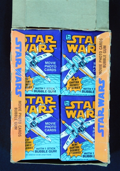 1977 Star Wars Series 5 Full Unopened Wax Box