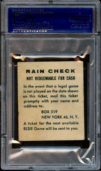 1955 Brooklyn Dodgers Ticket Stub Robinson/Snider/Hodges Home Runs PSA AUTHENTIC