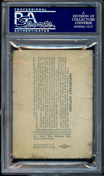 1941 New York Yankees July 4th Lou Gehrig Memorial PSA AUTHENTIC