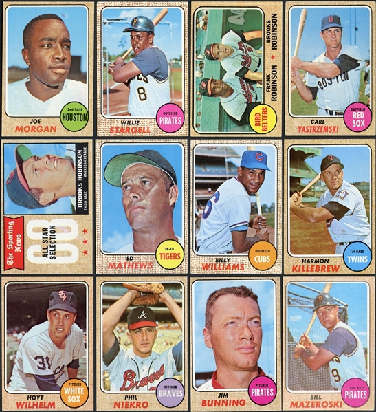 1968 Topps Baseball Partial Set (424/598) With Over 700 Duplicates
