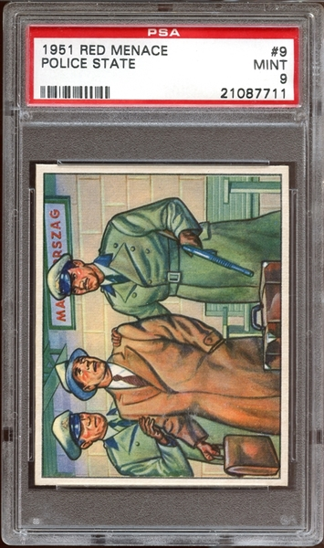 1951 Bowman Red Menace #9 Police State PSA 9 MINT