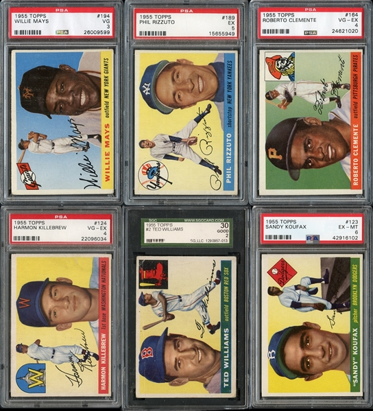 1955 Topps Baseball Complete Set with PSA/SGC Graded