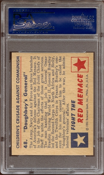 1951 Bowman Red Menace #48 Doughboy's General PSA 9 MINT