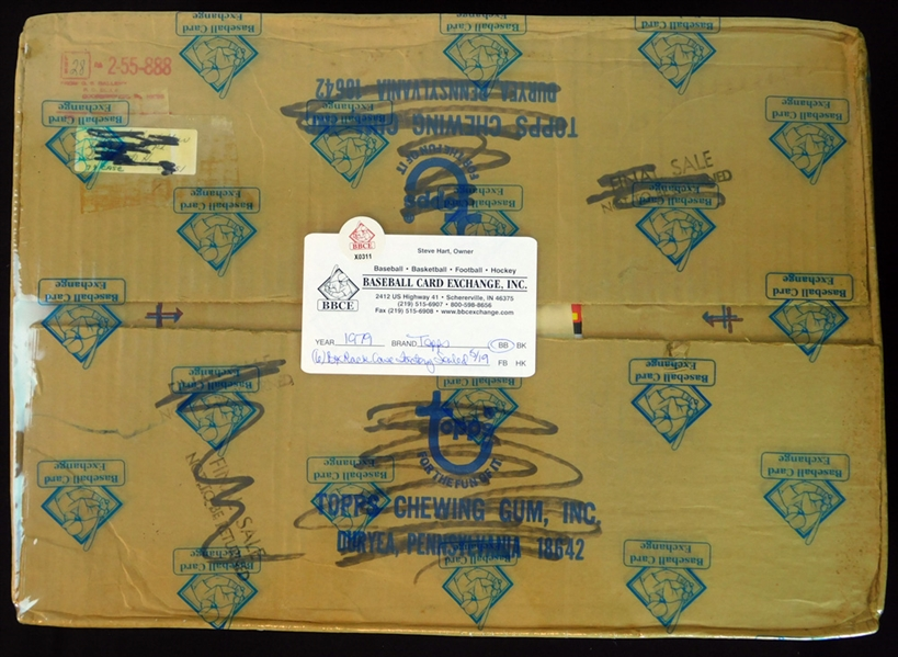 1979 Topps Baseball 6-Box Rack Case Factory Sealed BBCE