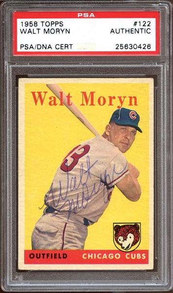 1958 Topps #122 Walt Moryn Autographed PSA/DNA AUTHENTIC