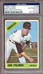 1966 Topps #126 Jim Palmer Autographed PSA/DNA AUTHENTIC
