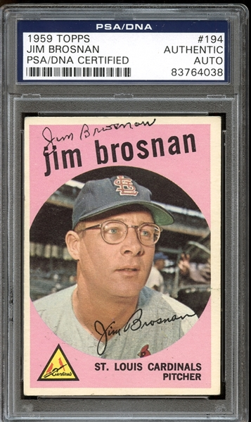 1959 Topps #194 Jim Brosnan Autographed PSA/DNA AUTHENTIC