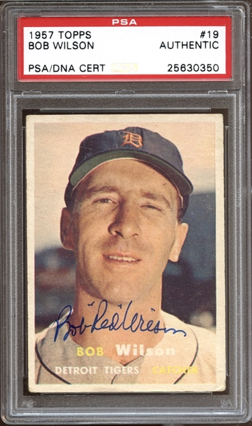 1957 Topps #19 Bob Wilson Autographed PSA/DNA AUTHENTIC