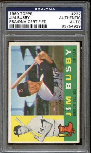 1960 Topps #232 Jim Busby Autographed PSA/DNA AUTHENTIC