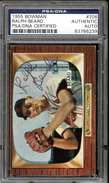 1955 Bowman #206 Ralph Beard Autographed PSA/DNA AUTHENTIC