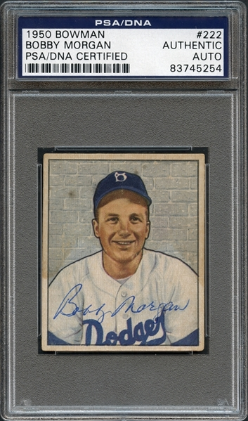 1950 Bowman #222 Bobby Morgan PSA/DNA AUTHENTIC